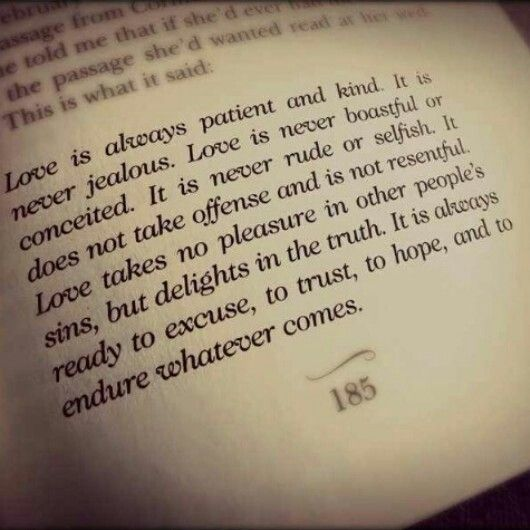 a walk to remember quotes love is patient - photo #1