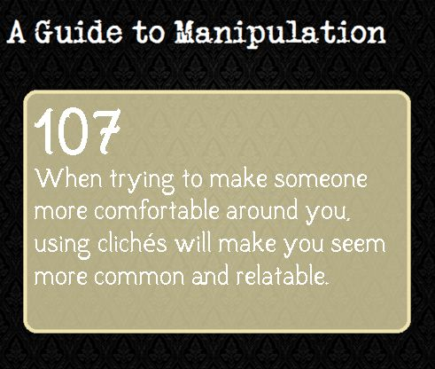 A Guide To Manipulation — Suggested by momoinwonderland. I'm so happy this is actually a thing!!