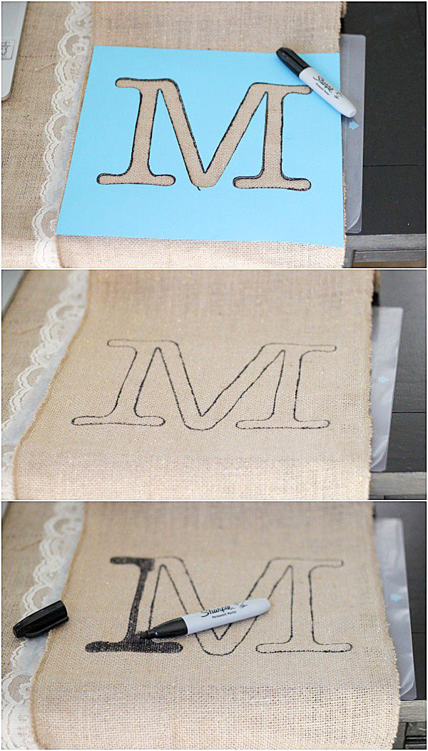 5 10 minute easy monogrammed table runner beautiful for 10 minute table runner instructions