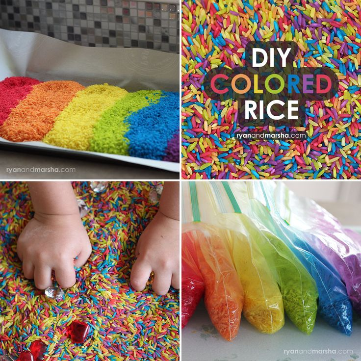 This beautiful colored rice is great for sensory play and crafts (like my Rainbow I Spy Bottle).You can make this fun vibrant colored rice it at home with a few simple ingredients that you probab…
