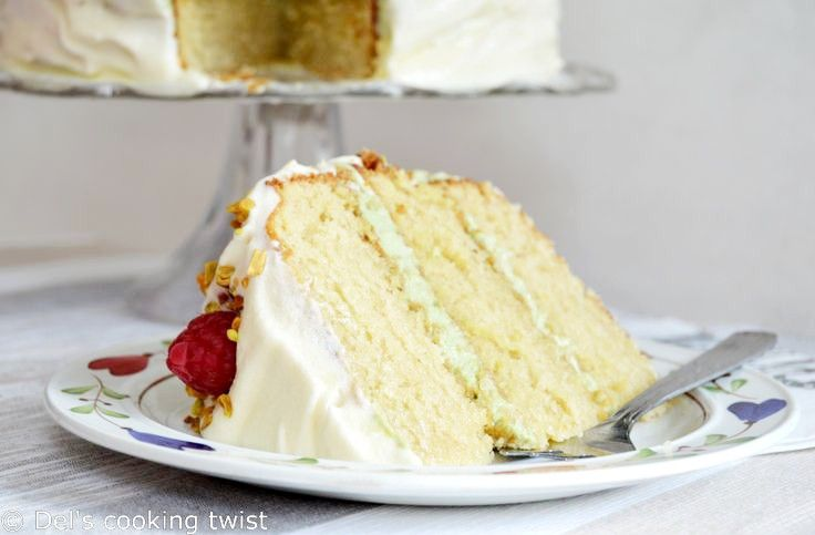 Matcha Vanilla Layer Cake. A wonderful cake for big occasions! | Del's cooking twist