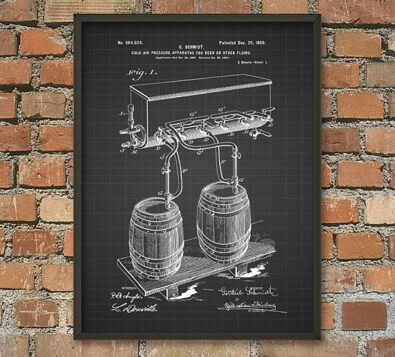 Beer Brewing Patent Print #4 - 1900 Beer and Ale Brewing Patent Wall Art Poster - Brewing Industry - Brewery Art - Beer Making Process  This patent poster is printed using high quality archival inks on heavy-weight archival paper with a smooth matte finish. A fantastic gift or a fabulous addition to your home!  Please choose between different colors and sizes.  ---------------------------------------------------------------------------------------------  FLAT RATE SHIPPING: Any additional…