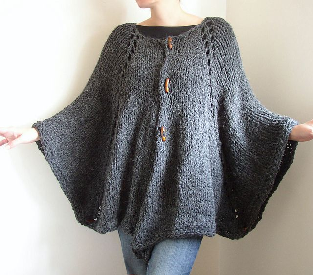 Ravelry: Alpaca Cape Jacket pattern by Siobhan Brown