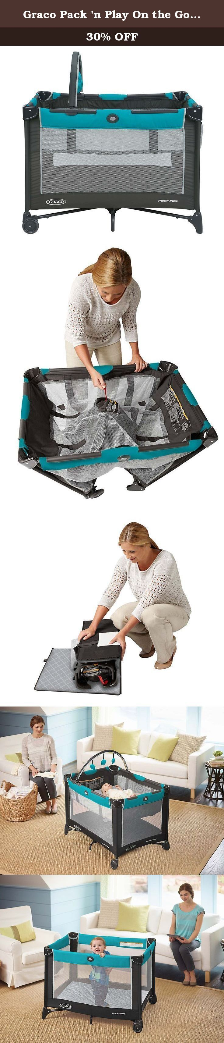 Graco Pack 'n Play On the Go Playard, Finch. You want your little one to be comfortable no matter where you go and we want to make that easier for you with a specially-made bassinet that means less parts to carry and its 20% more compact fold, there's no more convenient solution than our Pack 'n Play On The Go. Its durable frame makes it perfectly suited for travel and the signature Graco push-button fold allows you to break it down quickly & hassle-free. At home or away, baby will be…