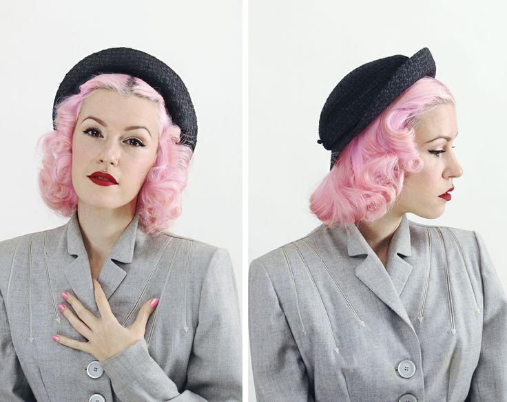 1950s Women's Pork Pie Hat from machinedance vintage