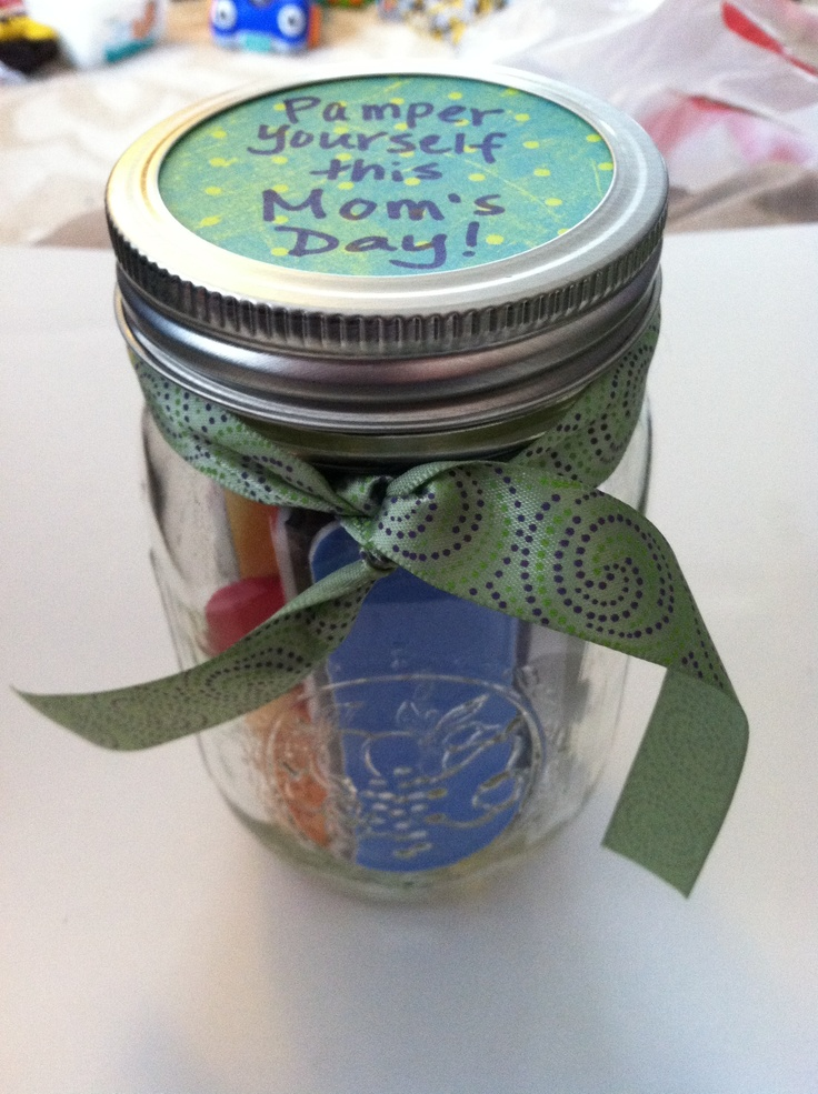 Pamper yourself this Mother's Day! Mason jar gift complete