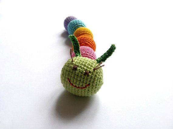 Caterpillar Baby Toy  Crocheted Caterpillar  von BestForKids, $17.00