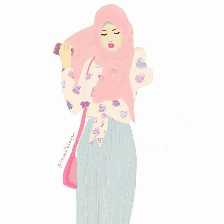 Anime Muslim Girl Wallpaper Muslimah Wallpaper Www Pixshark Com