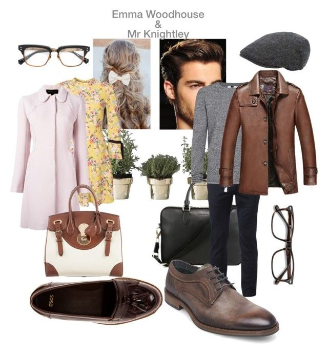 """Modern Emma Woodhouse and Mr Knightley"" by natasha-300600 on Polyvore featuring Skultuna, Polo Ralph Lauren, Urban Pipeline, Topman, Giambattista Valli, ASOS, Steve Madden, Ralph Lauren, EyeBuyDirect.com and Dita"