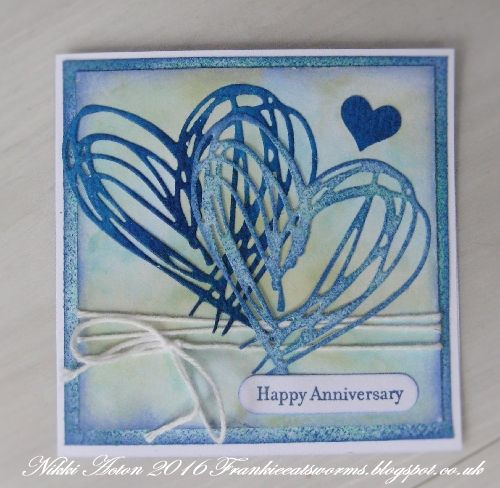 Addicted to Art: Tim Holtz Scribbles and Splats Anniversary Card