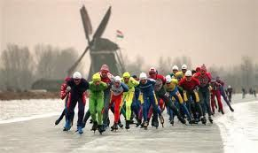 Eleven cities skating tour ~ De Elfstedentocht in Friesland, The Netherlands