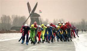 Eleven cities skating tour ~ De Elfstedentocht in Friesland, The Netherlands
