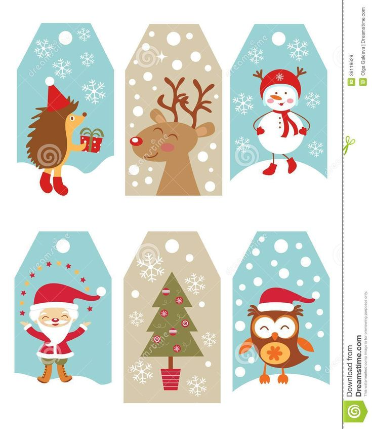 The 25 best printable christmas gift tags ideas on pinterest photo about cute collection of christmas gift tags 36119629 negle Image collections