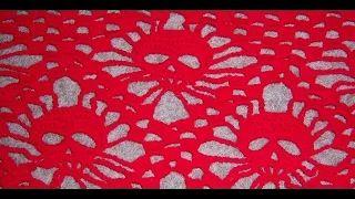 crochet granny square triangle - YouTube
