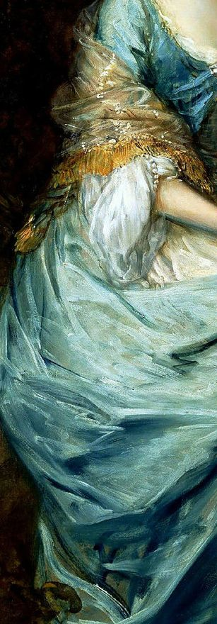 """Anne, Countess of Chesterfield"" (detalle) de Thomas Gainsborough"