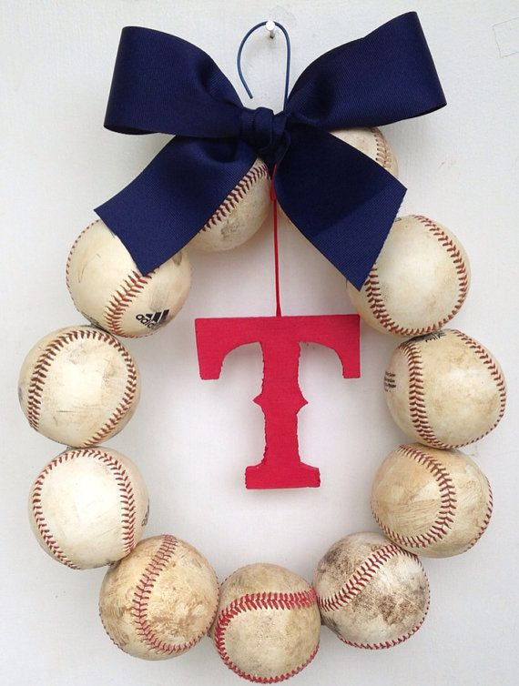 Texas Rangers Baseball Wreath by NTgoodthings on Etsy