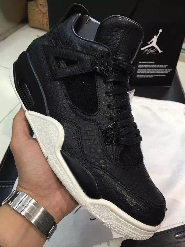 10b779d81563 air jordan 4 retro premium black
