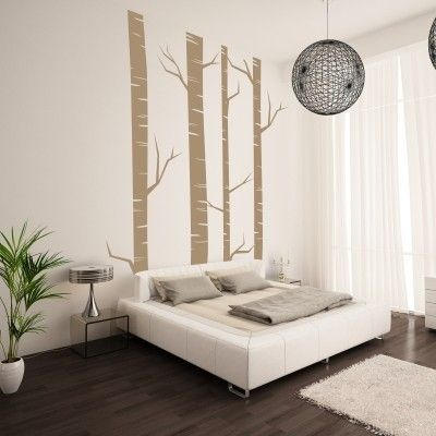"""Adesivo Murale - Betulle.  Adesivo murale di alta qualità con pellicola opaca di facile installazione. Lo sticker si può applicare su qualsiasi superficie liscia: muro, vetro, legno e plastica.  L'adesivo murale """"Betulle"""" è ideale per decorare la vostra camera da letto. Adesivi Murali."""