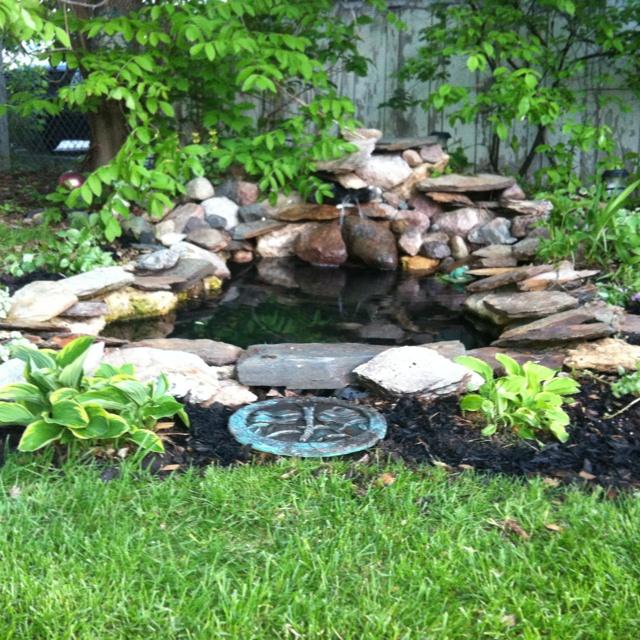 136 best images about ponds on pinterest backyard ponds for Corner fish pond