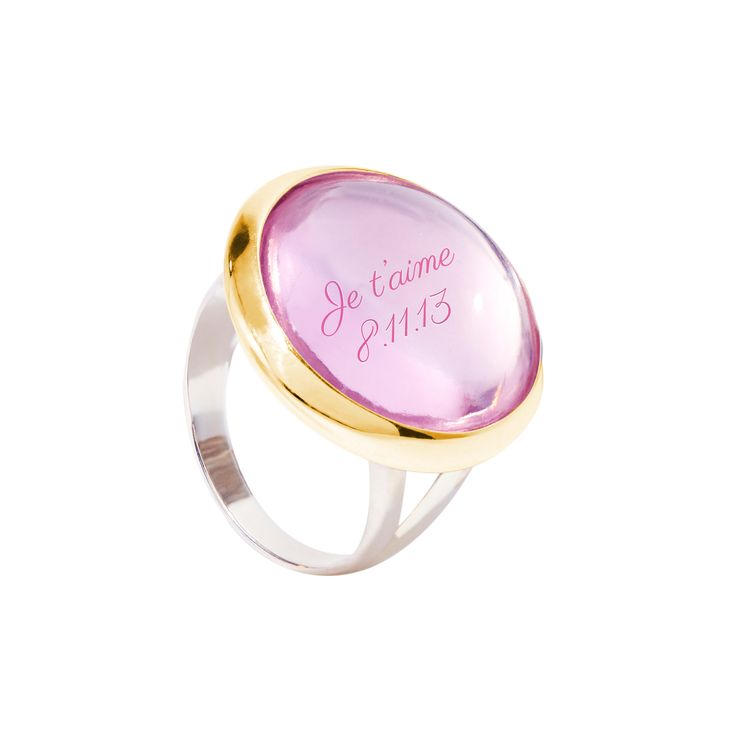 The Boheme ring by Lilou: customizable, colourful and trendy! Choose the shape, crystal color and engraving to make it unique! from 78£ #lilou #ring #Boheme #crystal #unique #customizable #trendy