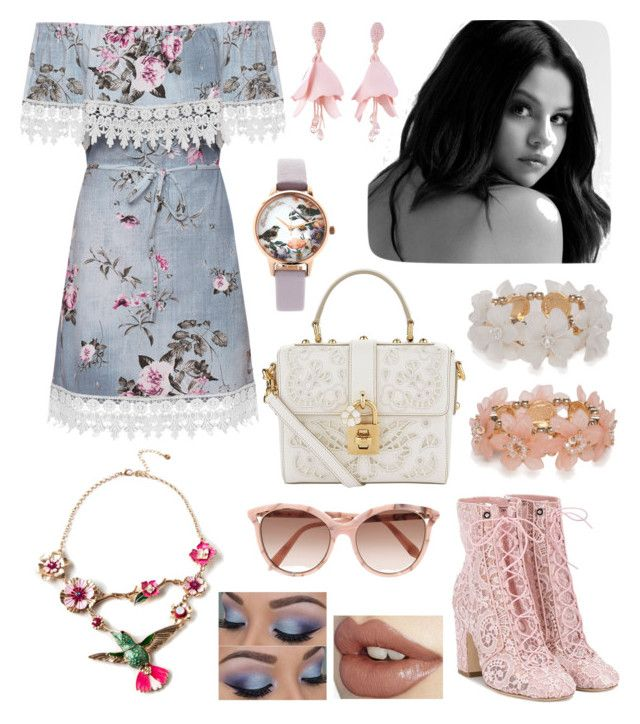 """Country Rose Outfit"" by hellenrose7292 on Polyvore featuring WearAll, Laurence Dacade, Olivia Burton, Dolce&Gabbana, New Directions, Oscar de la Renta, Royal Worcester, Victoria Beckham and country"