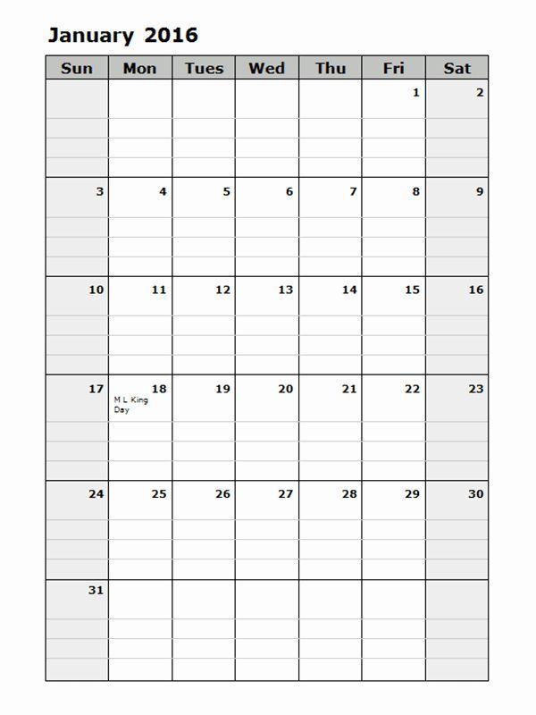 Monthly Schedule Template 2016 Elegant 2016 Monthly Calendar