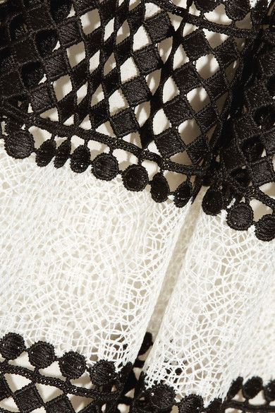 MICHAEL Michael Kors | Paneled crocheted lace mini dress | NET-A-PORTER.COM