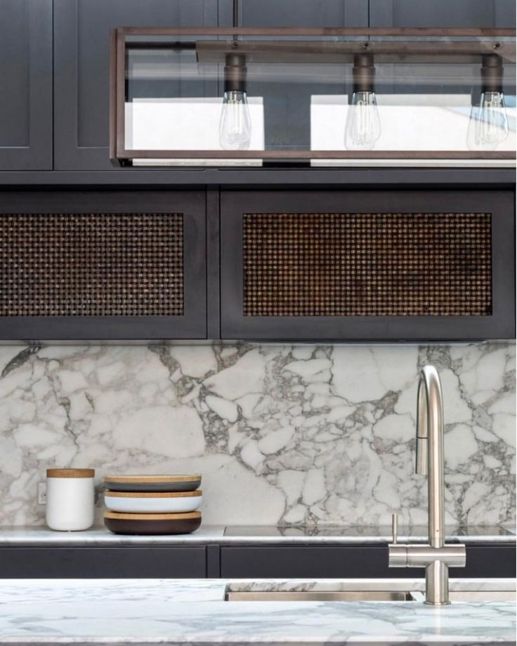 "92 Likes, 2 Comments - Sussex Taps (@sussextaps) on Instagram: ""A beautiful combination of aged woven brass cabinetry, Statuario marble and Brushed Nickel by…"""