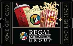 Buy $50 Regal Entertainment Group Gift Card for Only $40  mail delivery
