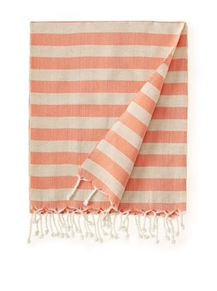 Nomadic Thread Society Linen Hammam Towel (Orange)