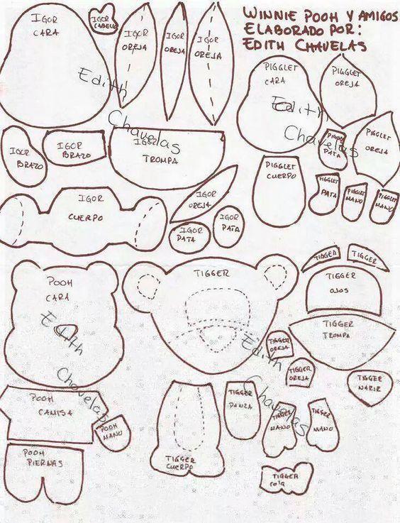 Moldes para hacer llaveros de winnie pooh y sus amigos. Related Post ...