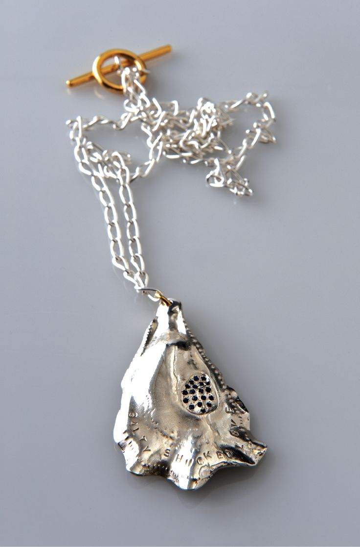 Lucy Folk presents SEAFOOD - 2010 - OYSTER NECKLACE WITH SAPPHIRES