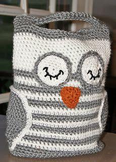 RAKJPatterns Crochet Patterns Free and to Purchase: Owl Tote Crochet Pattern: Pattern of the Week