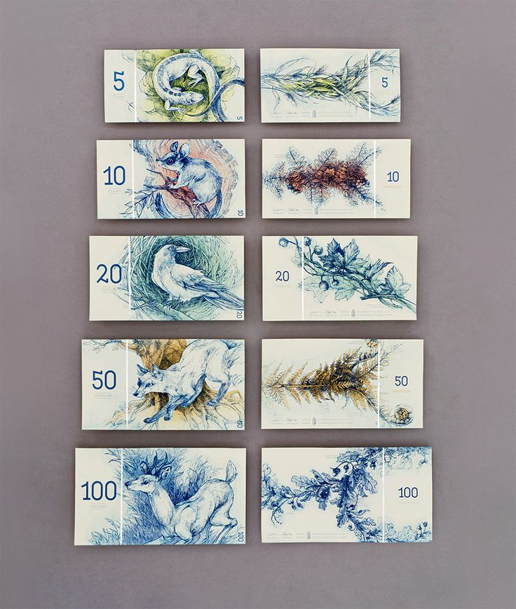 Hungarian Banknote Concept Designed by Barbara Bernát