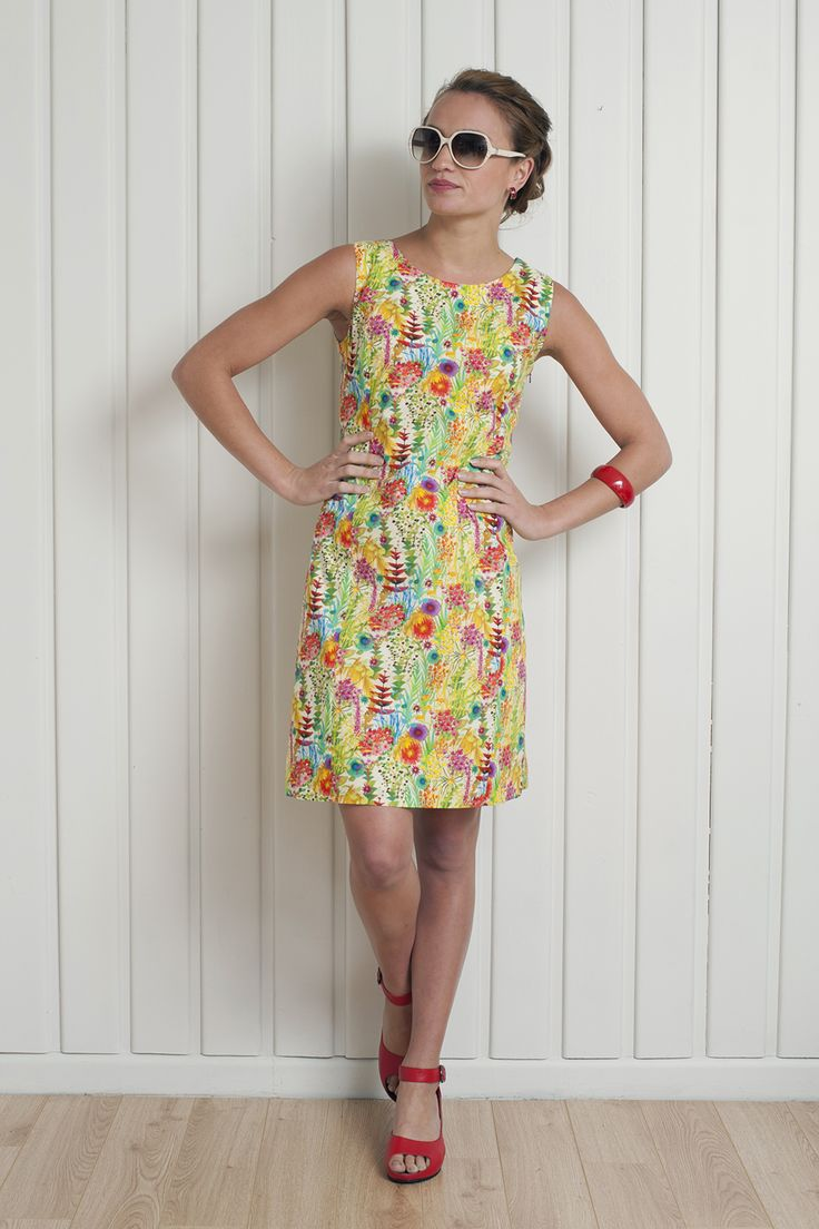 Summer garden shift dress - available now http://www.chalkydigits.co.nz