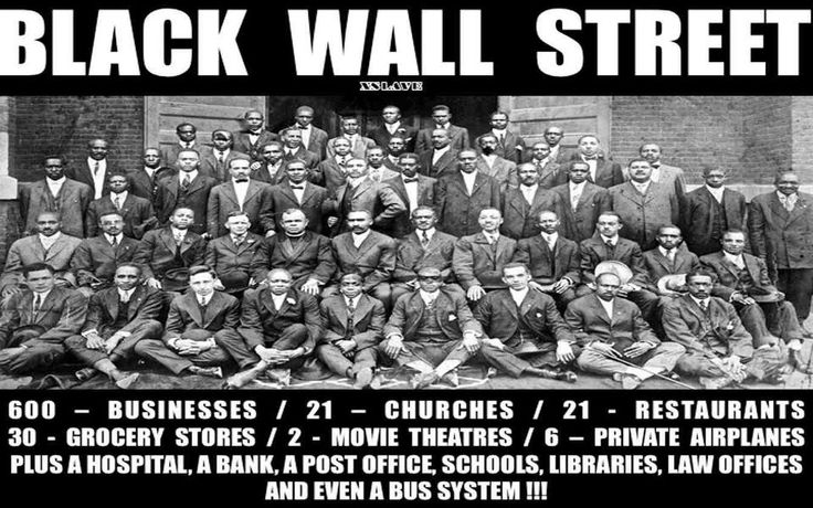 BLACK WALLSTREET - June 1, 1921, was bombed from the air and burned to the ground... (Project Africa)
