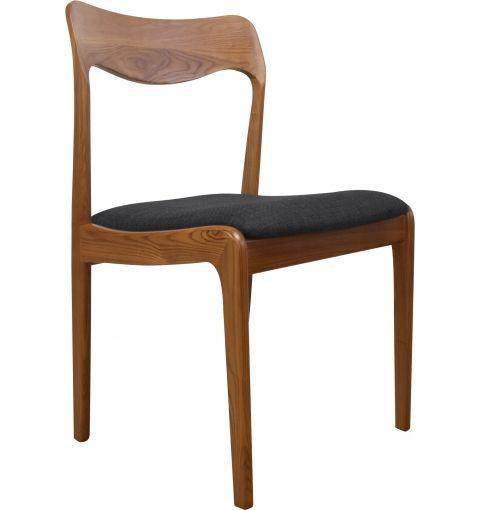 Fabio Ash Dining Chair, Dark Grey