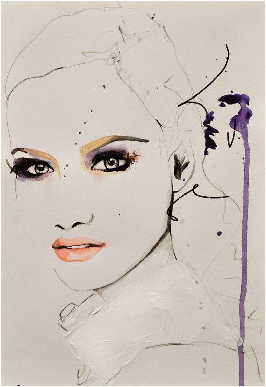 Savage Beauty - Fashion Illustration Art Print