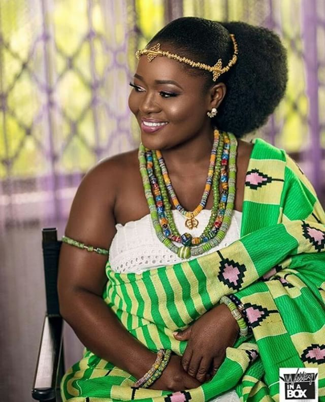 Ghanaian Bride Hair Cellencegh Forevermartins2018 Sugarweddings African Traditional Dresses Black Wedding Hairstyles African Fashion