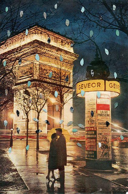Rain cant touch us...: Ben Giles, Paris France, Arc De, De Triomphe, Places, Vintage Photo, Romance