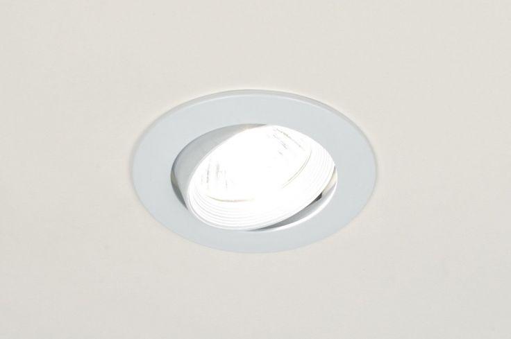 Spot Encastrable 70806: Moderne, Acier, Blanc, Brillant
