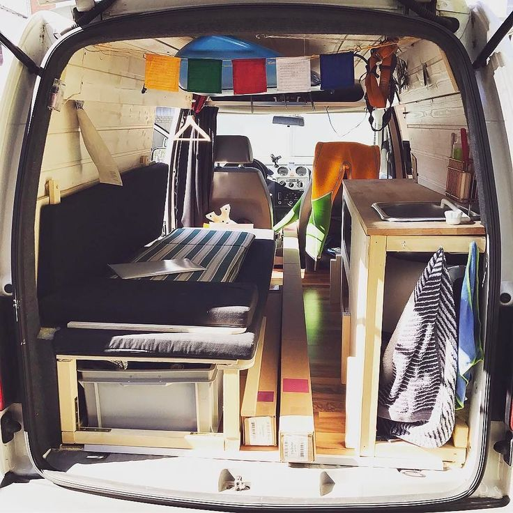 "New Vanlifer @maenuus_caddy Bio: ""I'm a VW Caddy Maxi van owned by @maenuu "" Caption: ""Bed v2 is finally in  Now its way easier to put it in sleep mode than before. (And there are some rolls of photo background paper)"" Thanks for TAGging us @vanlifers #vanlifers"