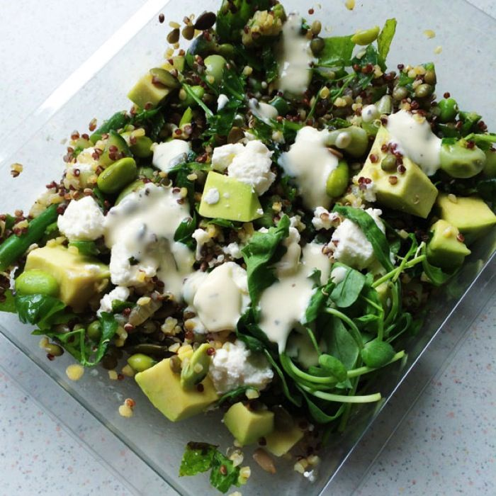 Avocado, feta & quinoa salad