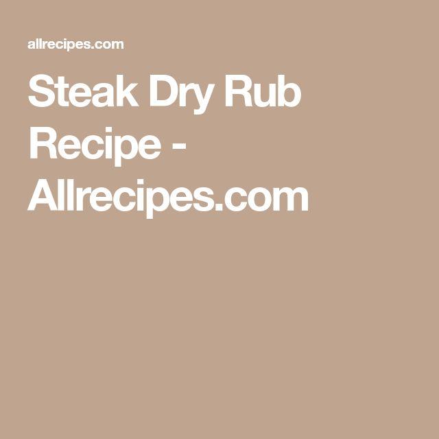 Steak Dry Rub Recipe - Allrecipes.com