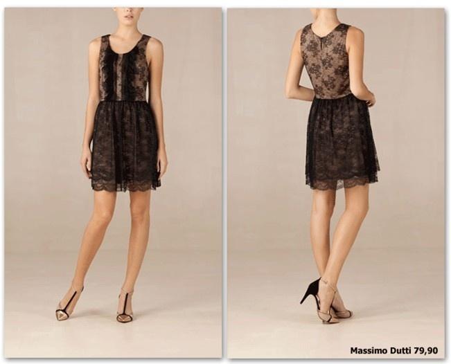 Vestidos de fiesta 2011: Vestido de encaje de Massimo Dutti