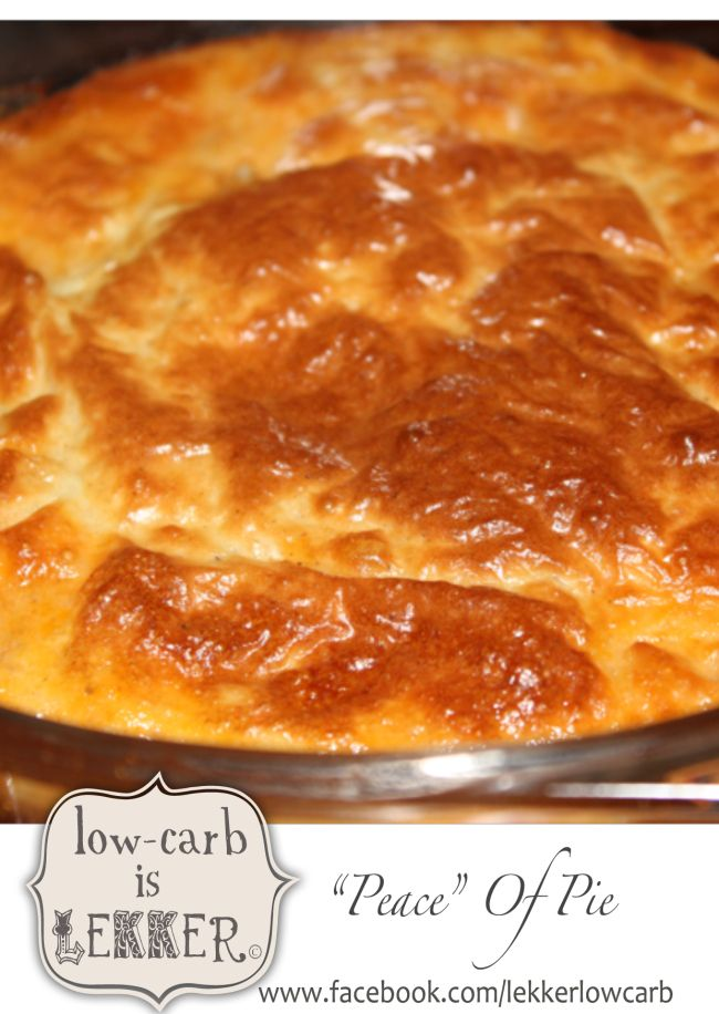 Banting friendly pie topping