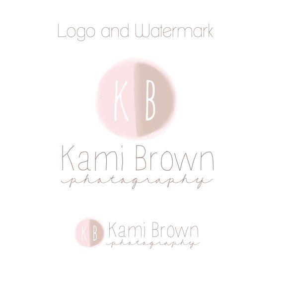Logo Logo - logo premade - fotografia e filigrana - logo acquerello disegnato a mano