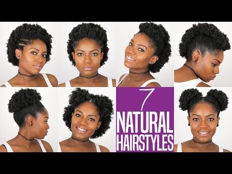 7 Natural Hairstyles For Short To Medium Length Natural Hair 4b C Hair Youtube Medium Natural Hair Styles Natural Hair Styles Natural Hair Styles Easy
