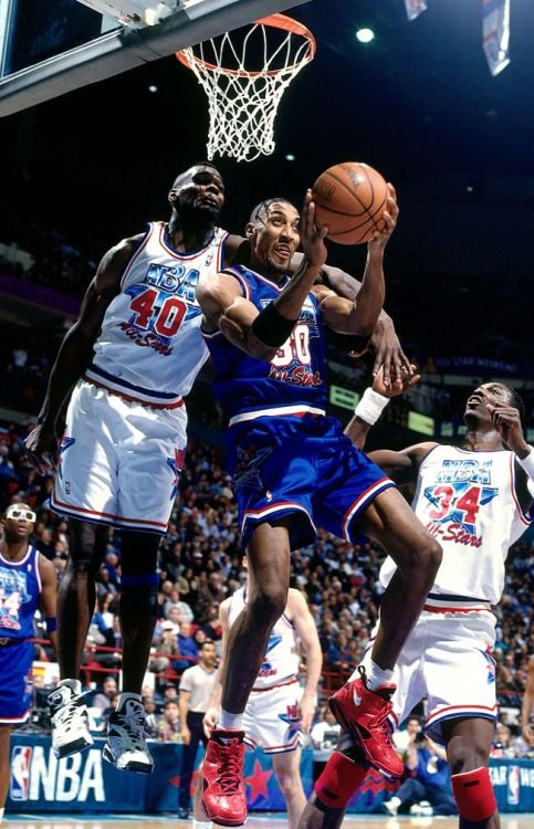 Pippen Gets Past Kemp, '94 All Star Game.