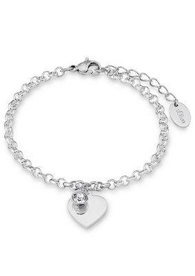 s.Oliver Armschmuck: Armband mit Swarovski® Kristall, »Herz, SO1346/1« - Schmuck Uhren